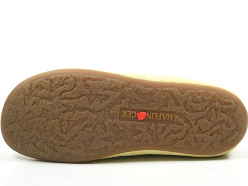 Haflinger 488023-0 Everest Softino Damen Hausschuhe Pantoffeln Leder Gelb
