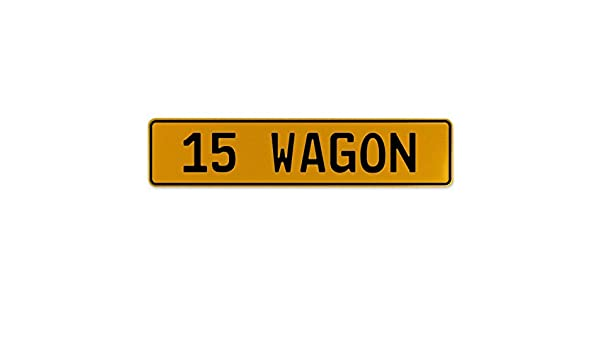 Vintage Parts 563226 15 Wagon Yellow Stamped Aluminum European Plate