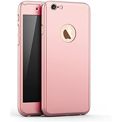 Custodia iPhone SE/5/5s 360 Gradi, Yoowei® Ultra Sottile PC Copertura Anteriore Indietro Cover con Pellicola Vetro Temperato Protettiva Schermo Protezione completa del corpo Duro Case per iPhone SE/5/5s 4.0