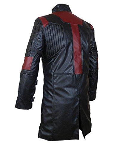 F&H Men's 2015 Avengers Age of Ultron Hawkeye Genuine Leather Coat Black