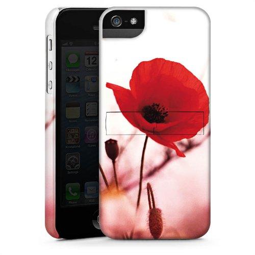Apple iPhone 4 Housse Étui Silicone Coque Protection Pavot Fleurs Coquelicot CasStandup blanc