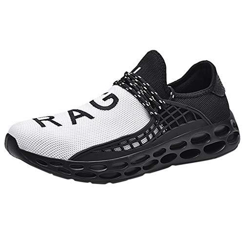 Scarpe da Corsa Uomo, Scarpe da Ginnastica Sportiva Sneakers Running Antiscivolo e Traspirante, Scarpe Casual da Passeggio Moda all'Aperto