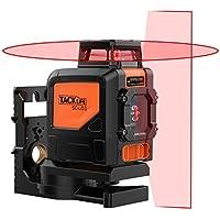 Tacklife SC L03 Livella Laser Classica a Croce con Gamma di Misurazione 30m e Funzione di Inclinazione, Linea Orizzontale a 360 Gradi, Linea Laser IP54 Protezione di Polvere e Spruzzo