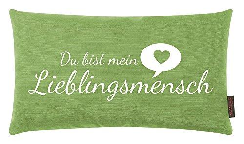 ROLLER Kissen - grün - Lieblingsmensch - 30x50 cm