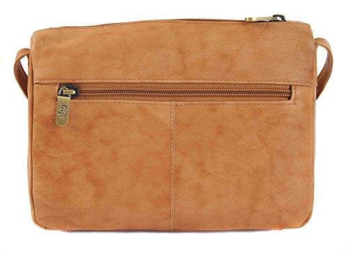7522800421261 ... GIGI Othello Klein Leder Schulter Crossbody Handtasche 16267 - Schwarz