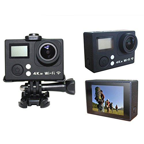 action Camera Wifi Waterproof Camera 4K particularly HD Cam by using 24G remote influence UnderWater 30M 98ft 20 inches LCD television screen and 170 Degree broad Angle Lens Black action Cameras