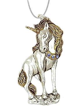 Einhorn Anhänger Amulett Talisman Keltischer Schmuck mit Halskette Schmucksäckchen und Karte Einhornanhänger 14
