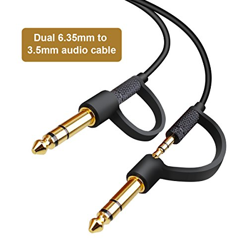 Aux Kabel, OneAudio 3.5mm auf 6.3mm Klinkenkable-1m Audio Kable Klinkenstecker Adapterkabel für Kopfhörer Apple iPhone iPod iPad, Smartphones, Echo dot, MP3, Tablet PCs, FM Transmitter, Auto
