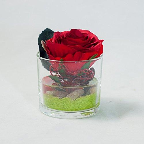 Seidenblumen 10 x Rosen rot//bordeaux gefüllt  Kunstblumen