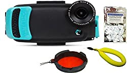 iPhone 6 6s Plus PRO Line Underwater Camera Housing by Watershot w Starter Package Free Moisture Absorbers Limpet Shell