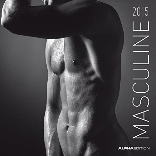 Masculine 2015 - Men - Broschürenkalender (30 x 60 geöffnet) - schwarz/weiß - Erotikkalender