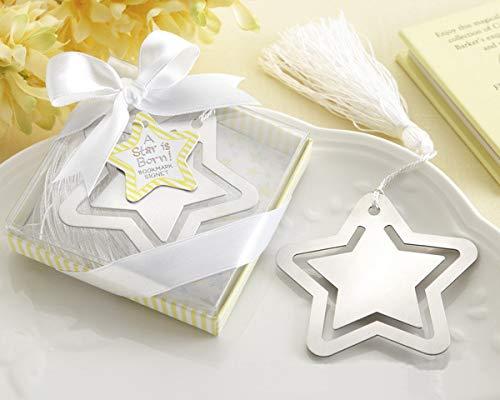 Flowow 6pz segnalibro stella memoriale di laurea cerimonia di nozze bomboniera souvenir regalo set cuscino contenitore di carta regalo escort francese nastro