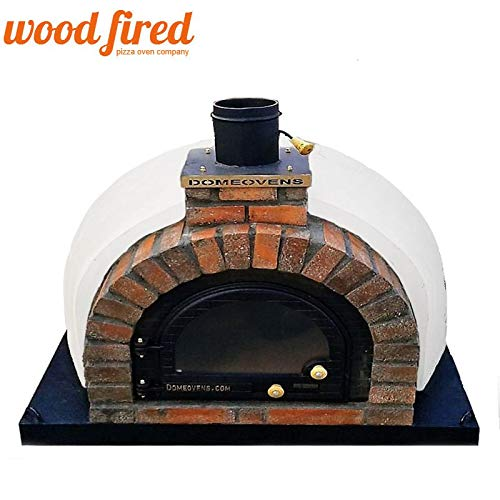 Grey Tudor Wood Fired Pizza Oven Double Insulation Starter Kit, Cast Iron Door, without gas burner, 120cm x 120cm