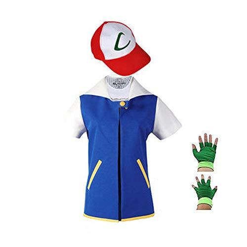 Imagen de disfraz de saianke sudadera con capucha chaqueta de cosplay conjuntos de gorro de guantes para entrenamiento