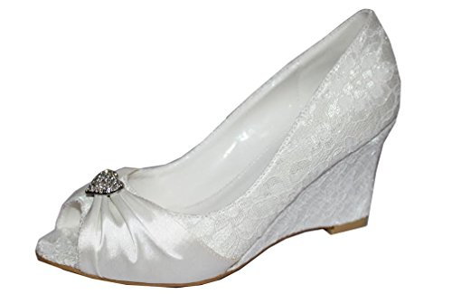 Ubershoes , Peep-Toe femme Ivoire - ivoire