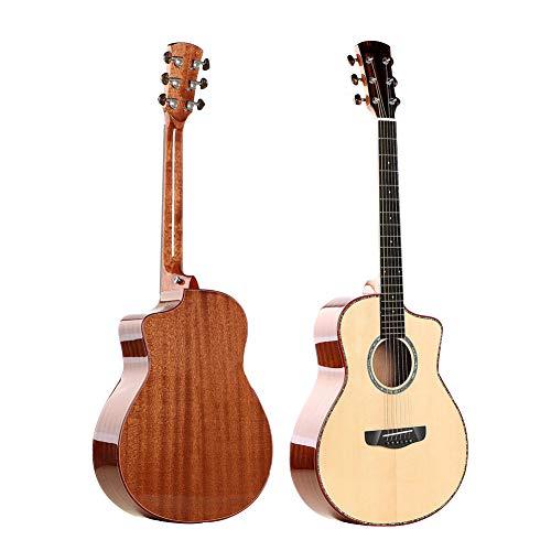 NUYI Voll Single Board Gitarre 36 Zoll Mini Fichte Mahagoni Reisegitarre Der Elektrischen Kastengitarrendame-Kindergitarre Musikinstrument -