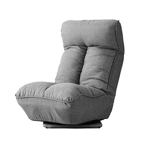 ALYR Falten Faules Sofa, 360 ° -Drehung Balkonschlafzimmer Bodenstuhl Bett Rückenlehne und Kopfstütze einstellen -