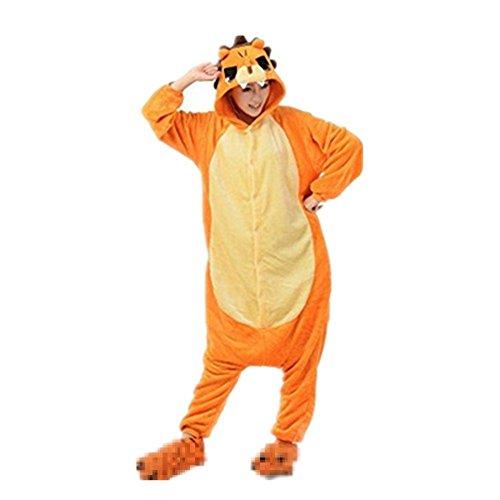Imagen de rainbow fox unicornio pijama adultos cosplay disfraz animal ropa de dormir franela novedad víspera de todos los santos navidad ropa s, león publico