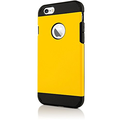 delightable24 Coque Extrême Protection Polycarbonate TPU ARMOR Case pour Apple iPhone 6 / 6S Smartphone - Vert jaune
