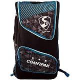 SG Comfi Pack Backpack Style Cricket Kit Bag - Black/Blue