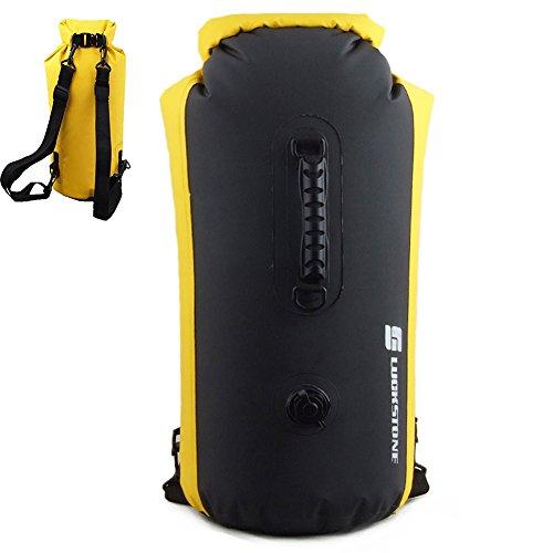 gossipboy (60leicht aufblasbar faltbar Wasserdichter Roll-Top Dry Bag Rucksack für Strand, Wandern, Kajakfahren, Angeln, Camping und andere Outdoor-Aktivitäten, schwarz (Bag Roll-top-dry)