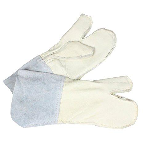 Handschuhe / Schutzhandschuhe für Stacheldraht - Leder - für Montage Stacheldraht Natodraht S-Draht