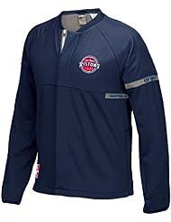 """Detroit Pistons Adidas 2016 NBA Men's On-Court """"Pre-Game"""" Full Zip Hooded Jacket Veste"""
