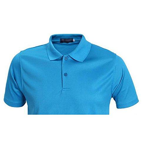 Demarkt Herren Poloshirt Polo T-Shirt Polohemd Kurzarm Polyester Blau XXXL Blau x M