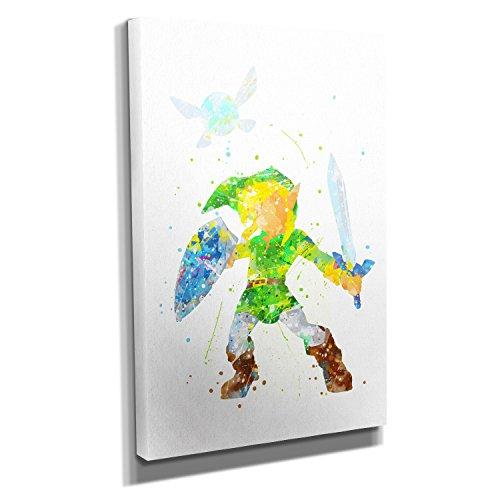 Kostüm Ash X Ketchum Und Y (Link Splash - KUNSTDRUCK auf Leinwand (20x30 cm) zum VERSCHÖNERN IHRER WOHNUNG. Verschiedene Formate AUF ECHTHOLZRAHMEN. HÖCHSTE QUALITÄT, UMWELTBEWUSST hergestellt. MIT)