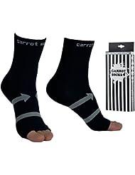Compression cheville (1 Paire), EveShine Manchon de compression cheville, Chaussette pour fasciite plantaire - Meilleur chevillière pour la course, randonnée et sports