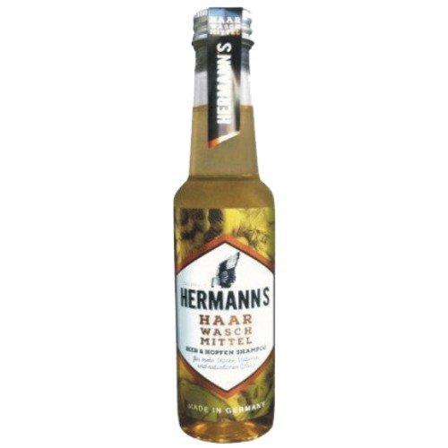 Hermanns Biershampoo aus Bierflasche   Haarwaschmittel für Bier-Fans   Haarshampoo für Männer   250ml - Bier Bin