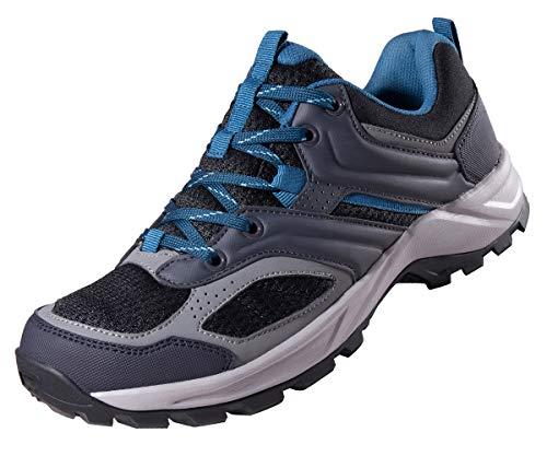 CAMEL CROWN Scarpe da Trekking da Uomo Scarpe da Escursionismo Antiscivolo Traspiranti Calzature Corsa Arrampicata Passeggio Scarpe da Lavoro Sportive All'aperto Nero Grigio Blu 40-47.5