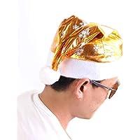 HEJIANGTAO Sombrero de Navidad Dorado, muñeco de Nieve, niño, artículos de sombrerería, en el Campus, Adulto, Dorado
