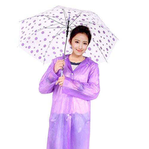 Transparent jetable Imperméable léger épaississement des adultes Raincoat With A Cap Poncho Alpinisme Sur Pied extérieur dérivantes étanche Poncho ( couleur : Rose ) Violet