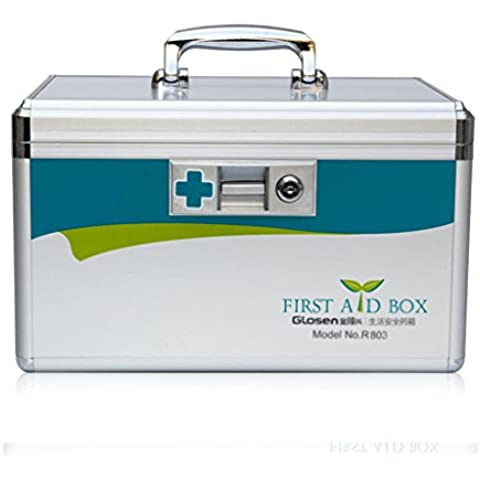 Out - Paziente Medicina box box di stoccaggio in lega di alluminio Scatole medici per uso domestico First Aid Kit Extra Large multistrato Medicine Chest ( dimensioni : L. ) - Out Pannello