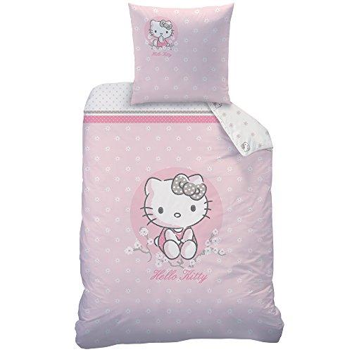 Hello Kitty Cerisier Bettwäsche-Set, Baumwolle, rosa, 135 x 200 cm, 2-Einheiten
