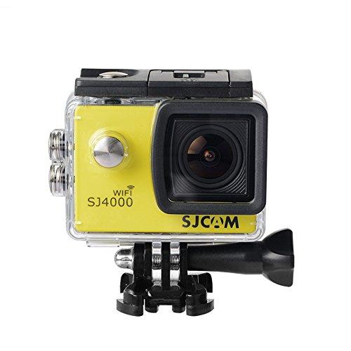 16GB TF Karte + Original SJCAM SJ4000 Wifi Action Kamera, HD 1080P WIFI Wasserdichte Sport Action Kamera H.264 12MP 170 Grad Weitwinkelobjektiv DV zum Tauchen Radfahren - 4000 Wifi Sjcam
