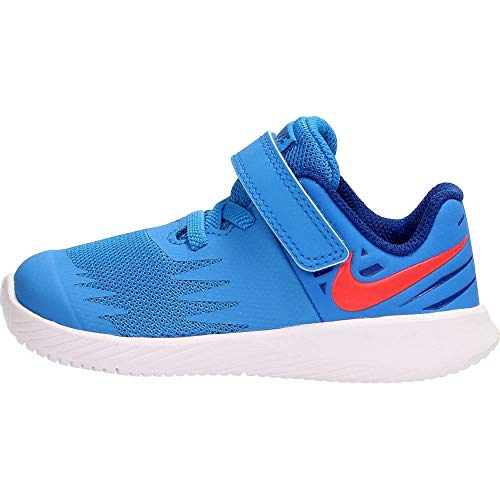 Nike Unisex Baby Star Runner (TDV) Niedrige Hausschuhe, Mehrfarbig (Photo Blue/Red Orbit/Indigo Force/White 408), 19.5 EU -