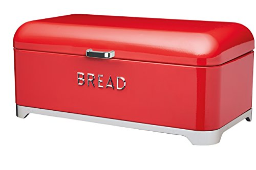 Kitchen Craft LOVELLO Brotkasten, 42 x 22 cm (41,9 x 21,6 cm) - Rot