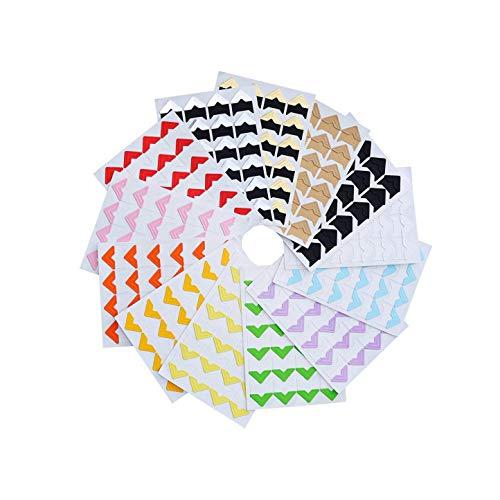 DIY Vintage Corner kraft Paper Stickers GEZICHTA 5Sheets//120pcs Photo Corners Self Adhesive Stickers Photo Mounting Paper Corner Stickers for DIY Scrapbook Albums Photo Frame Decoration 5pcs,Gold