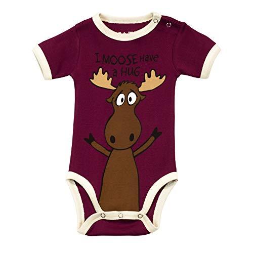 LazyOne Girls I Moose Have a Hug Babygrow Vest 12 Months