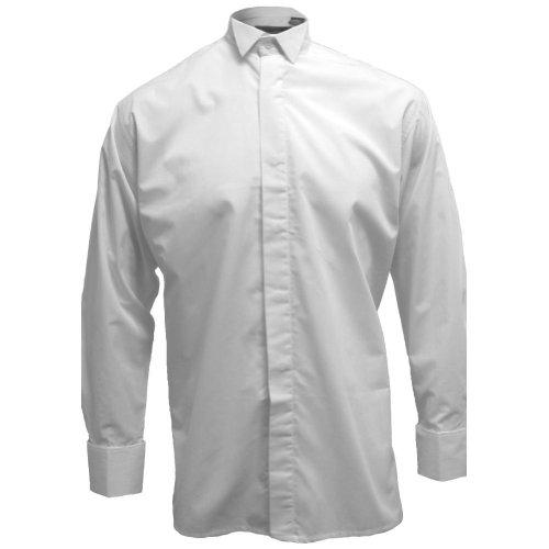 Tartanista - Broadsword - Camicia uomo colletto diplomatico - Bianco - 36,5 cm
