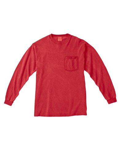 Treask 6.1 Oz. Long-Sleeve Pocket T-Shirt (C4410) 2Red