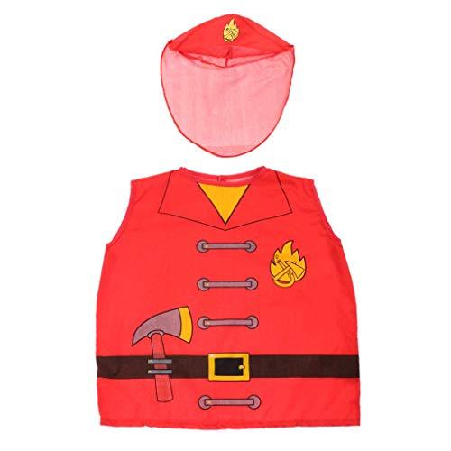 Tubayia Kinder Arzt / Feuerwehrmänner / Koch / Polizei Rollenspiele Cosplay Kostüm für Halloween Party ()