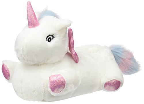 New Look Damen Nantastic Unicorn Niedrige Hausschuhe White (White)