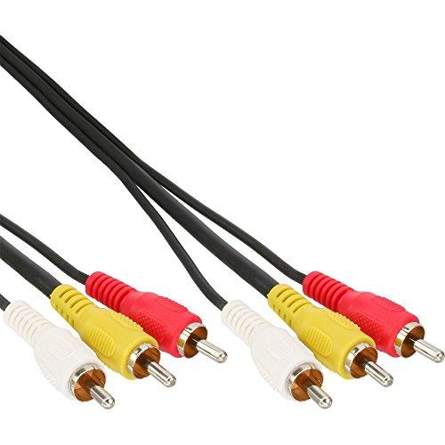 InLine AV-Kabel (3X Cinch Stecker auf Stecker, 1m) 12 3 Rca Component