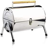 Deuba BBQ Portable Charcoal Grill Stainless Steel Barbecue Grill Foldable Table Coal Garden Travel Camping Folding Grill