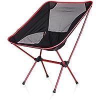 HRRH Asiento de silla plegable ligero para acampar al aire libre que acampa Pesca Ocio Picnic silla de playa Otras herramientas de pesca Silla de ocio Cojinete de carga: 150kg, B