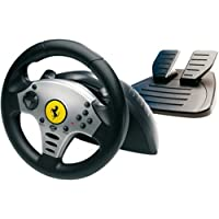 PS2 Volante Challenge Racing Wheel - THR [Importación italiana]