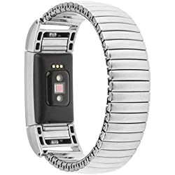 For Fitbit Charge 2 Replacement Band ,Fulltime(TM) Flexible Milanese Metal Band Stainless Steel Bracelet for Fitbit Charge 2